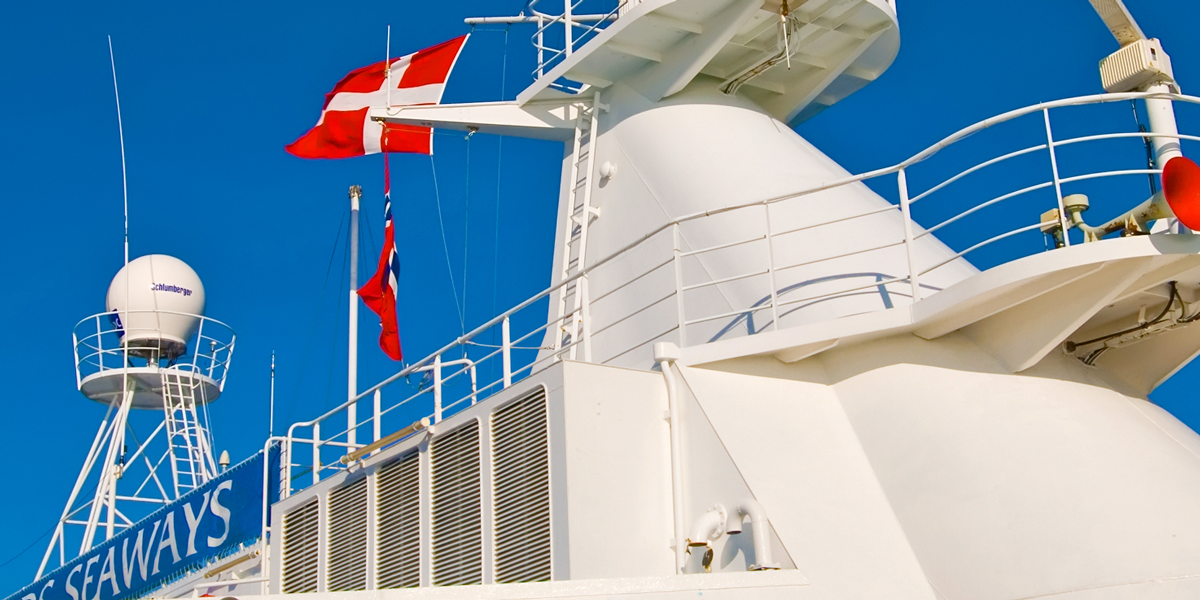 Danish flag on ferry
