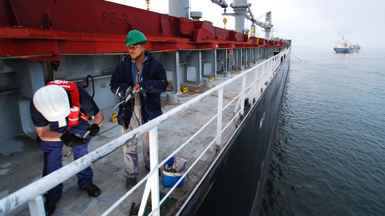 Ballast water inspection by US Coast Guard