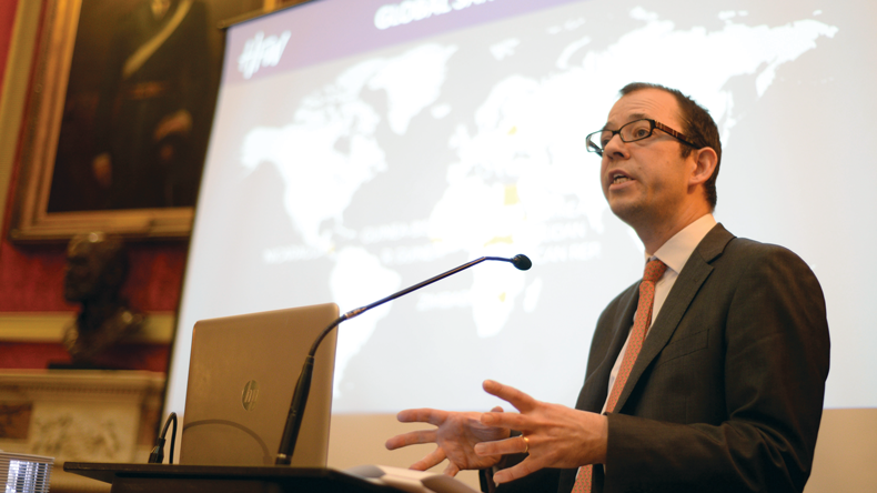 London-based maritime lawyer Daniel Martin at International Maritime Industries Forum November 2019