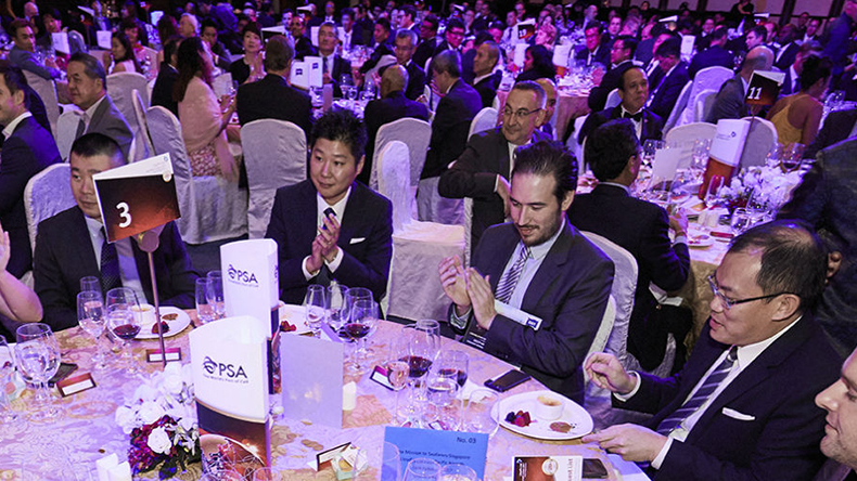 Tables at the Lloyd's List Asia awards 2017