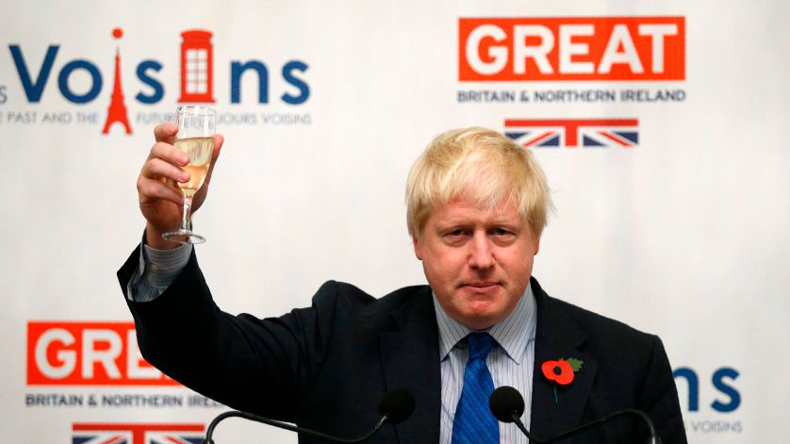 Boris Johnson offers a toast (Getty Images)