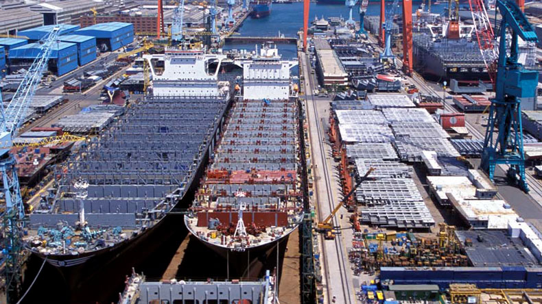 Boxships under construction