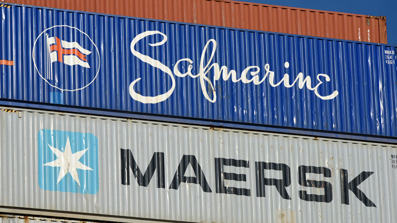 Safmarine and Maersk containers