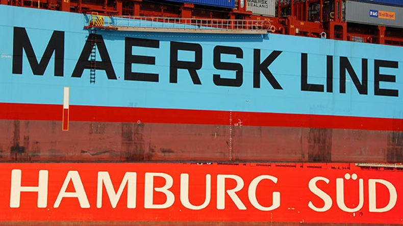 Maersk Line and Hamburg Sud logos