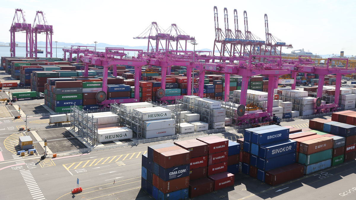 Containers at Incheon, South Korea