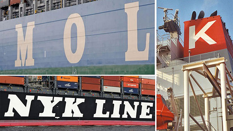 NYK MOL and K Line composite