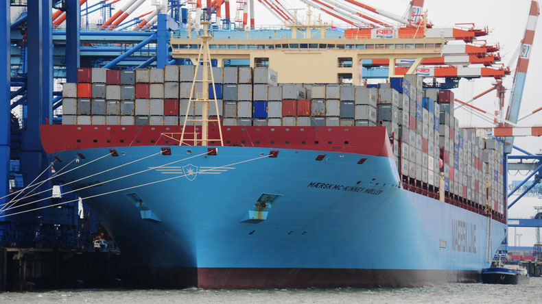 The 18,340 teu Maersk Mc-Kinney Moller