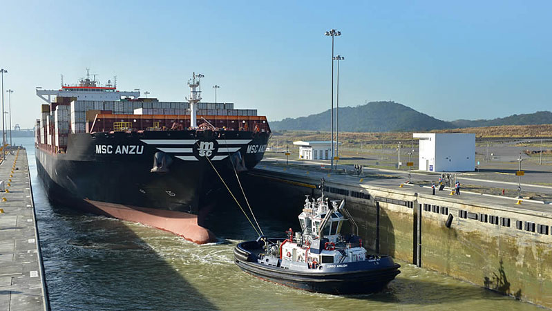 MSC Anzu the 1000th neopanamax through the enlarged Panama Canal