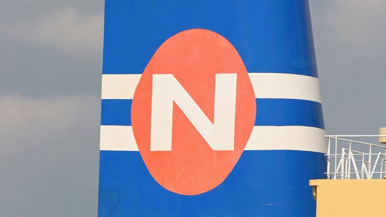 Navios logo on funnel