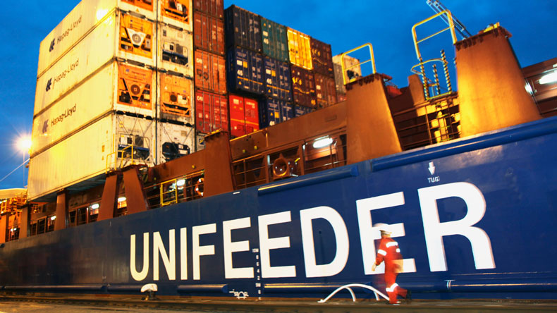 Unifeeder vessel at quay