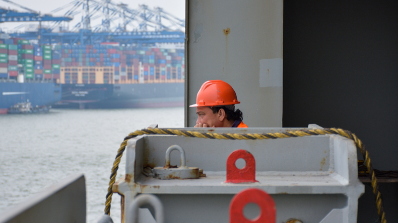Seafarer in port