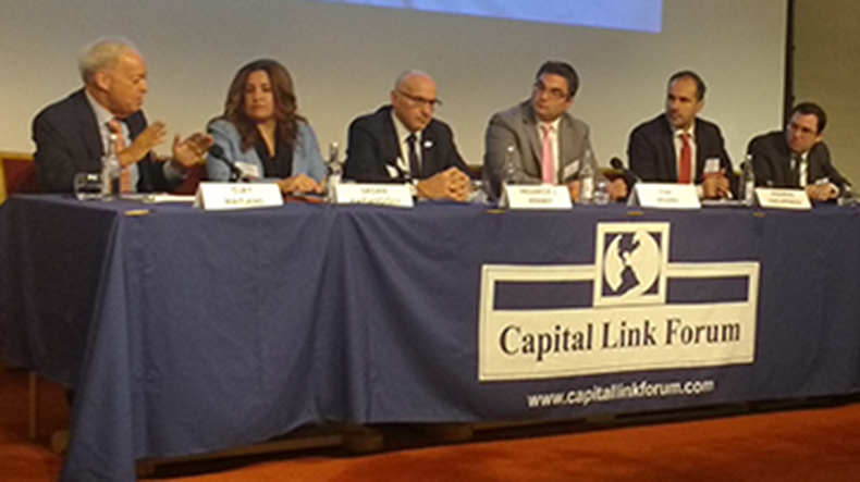 Speakers at Capital Link Forum, London, September 25, 2018