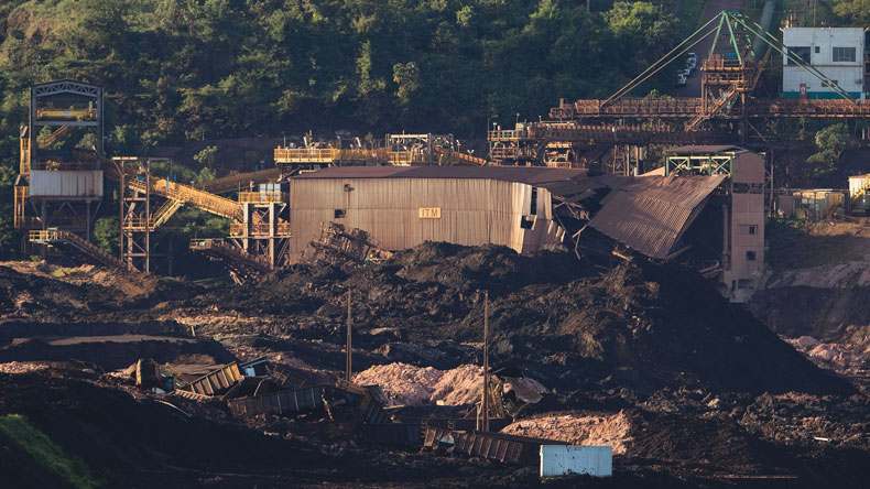 Aftermath of Brazil copper mine dam collapse