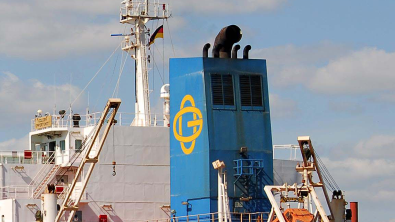 Golden Ocean logo on funnel