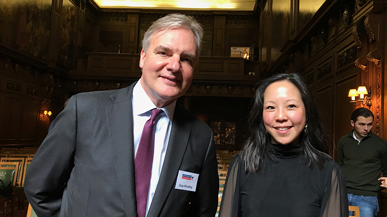 Left to right: Guy Hindley head of dry cargo at Howe Robinson and Janina Lam head of dry research at Howe Robinson