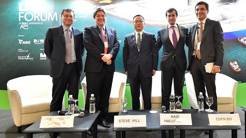 The panel at the LNG Forum in Singapore 2018