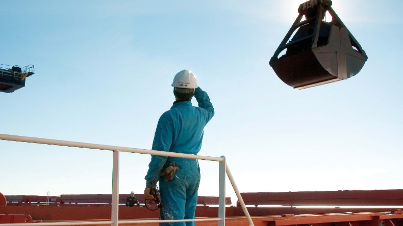 Seafarer on dry bulk vessel