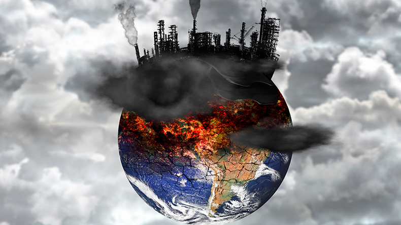 Earth pollution greenhouse gas