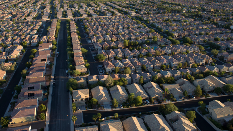 Las Vegas suburbs. Mark Downey /Corbis Documentary via Getty Images