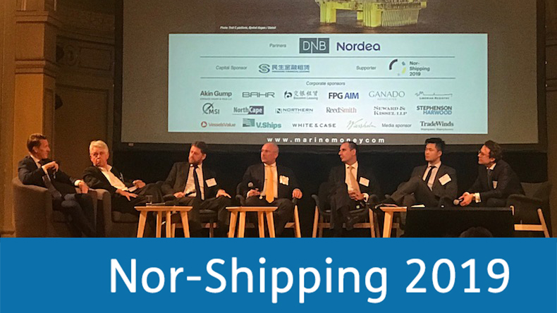 Marine Money Oslo panel with Nor