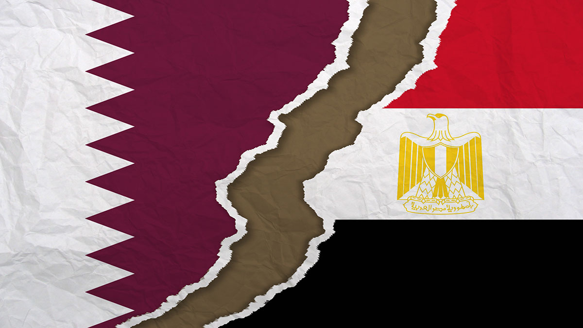 Qatar and Egypt flags