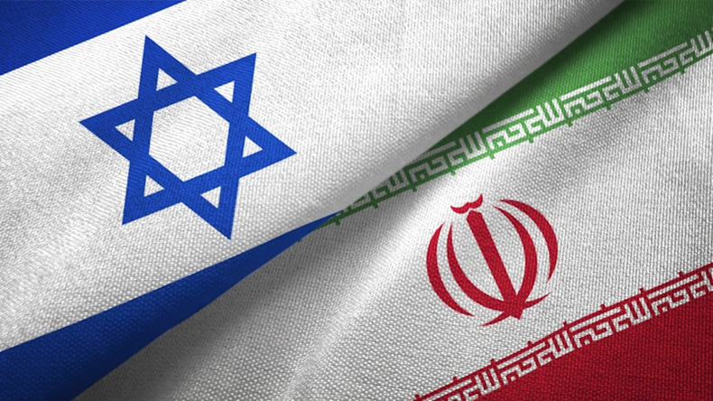 Iran and Israel two flags together Oleksii Liskonih/Getty Images