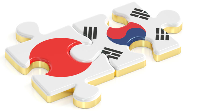 Japan and South Korea unity