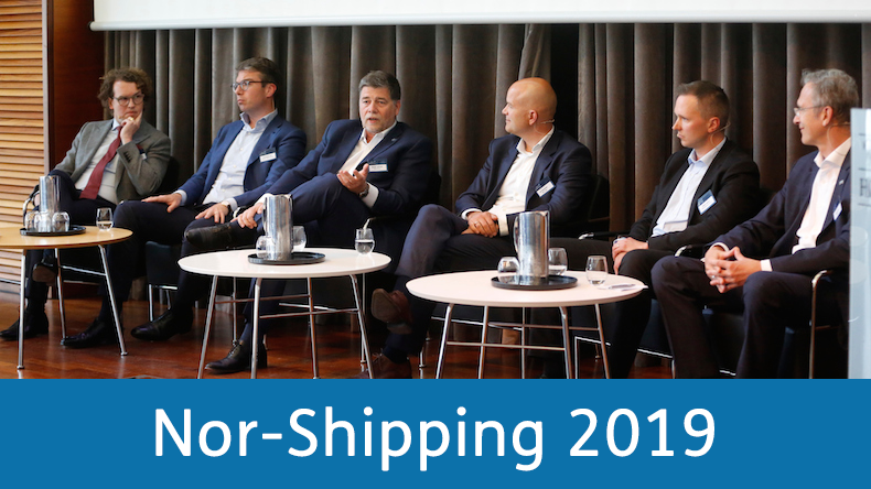 The panel at the Lloyd's List Innovation Forum, Nor-Shipping