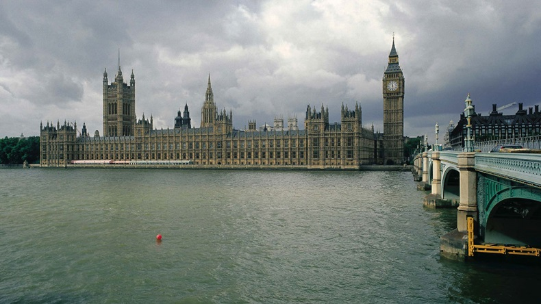 UK parliament and Westminster Bridge