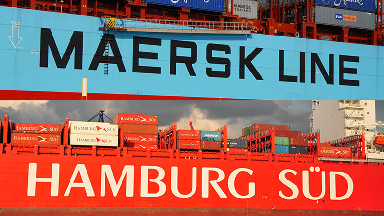 Maersk and Hamburg Sud logos