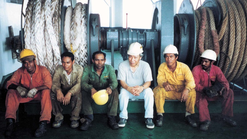 Seafarers after boat drill