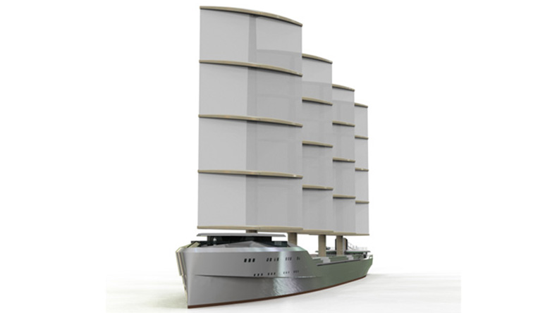 Smart Green Shipping Alliance wind-powered vessel model