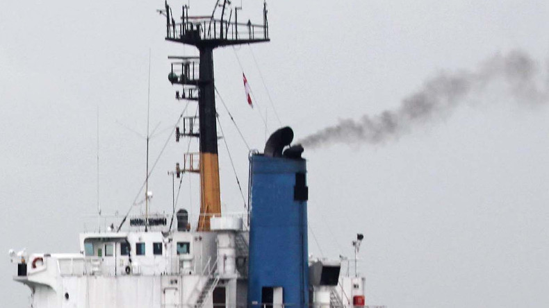Ship funnel emission