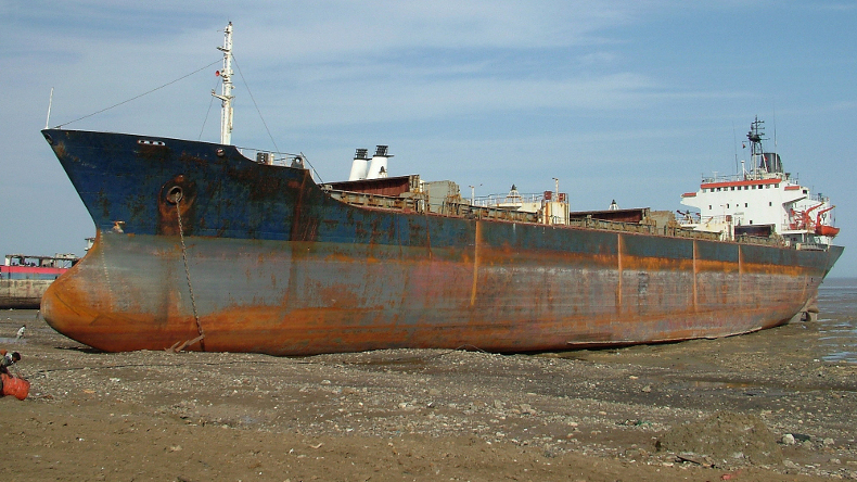 Ship Recycling facility in Alang, India