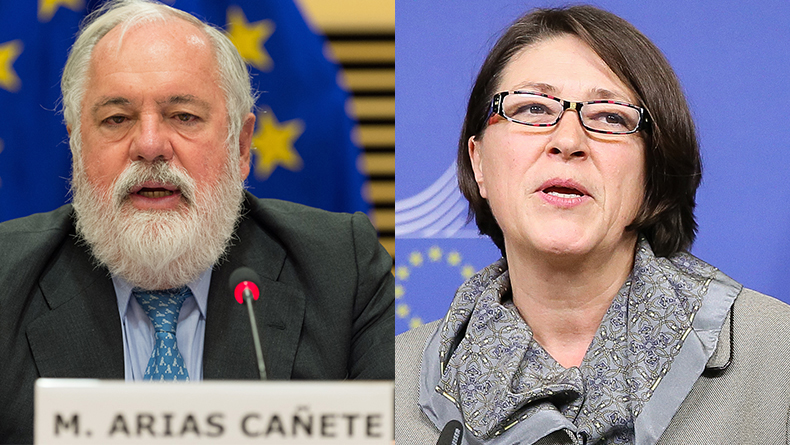 Miguel Arias Cañete, Commissioner for Climate Action and Energy, and Violeta Bulc, Commissioner for Transport, European Commission