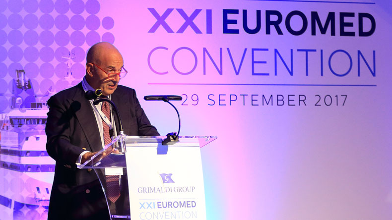 Emanuele Grimaldi at the 2017 EuroMed convention, Sardinia