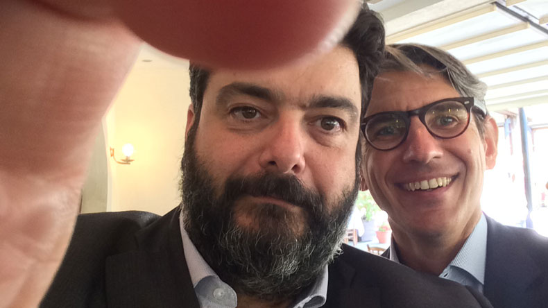 Ioannis Zafirakis left and Andreas_Michalopoulos