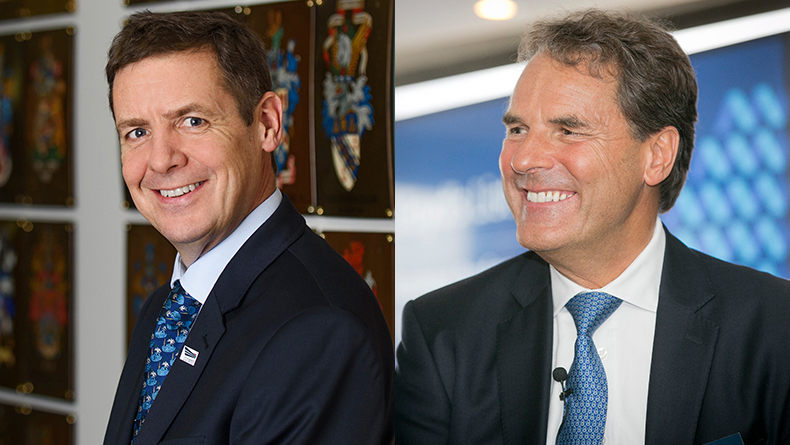 UK Chamber of Shipping chief executive Guy Platten, left, and president Grahaeme Henderson, right.
