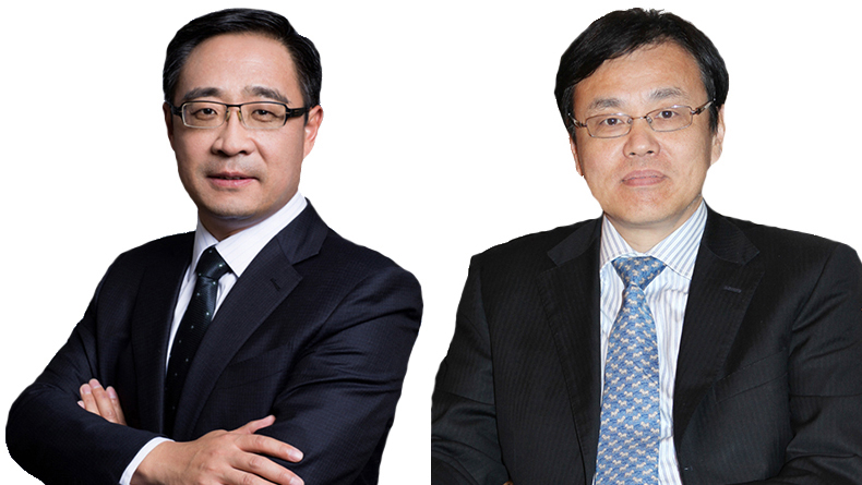 Zhao Guicai, chief executive, ICBC Financial Leasing and Chen Min, chairman, Bocomm Financial Leasing