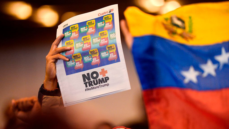 Venezuela defiance at Trump sanctions. Matia Delacroix/AFP via Getty Images