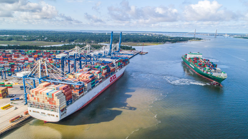 Charleston port: OOCL France, the largest ship the port has handled