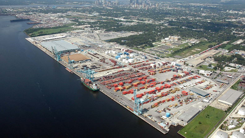 Jacksonville Port in Florida, USA