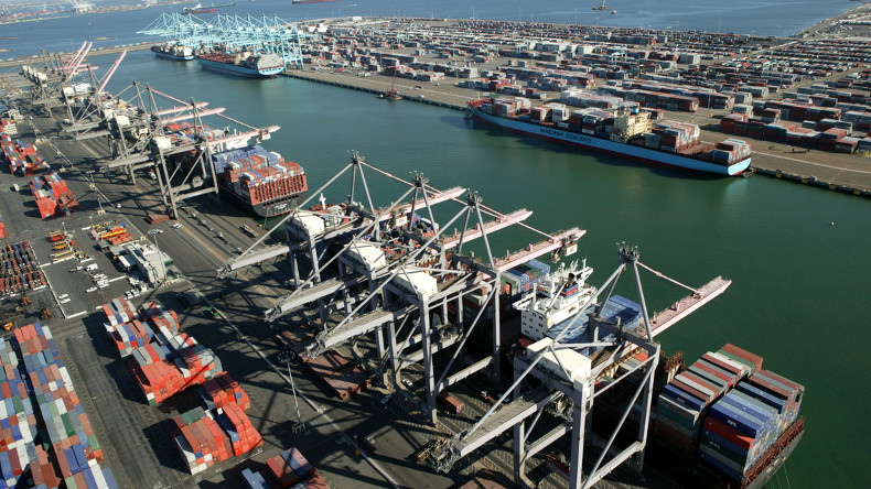 Port of LA Pier 300-400 and container terminals