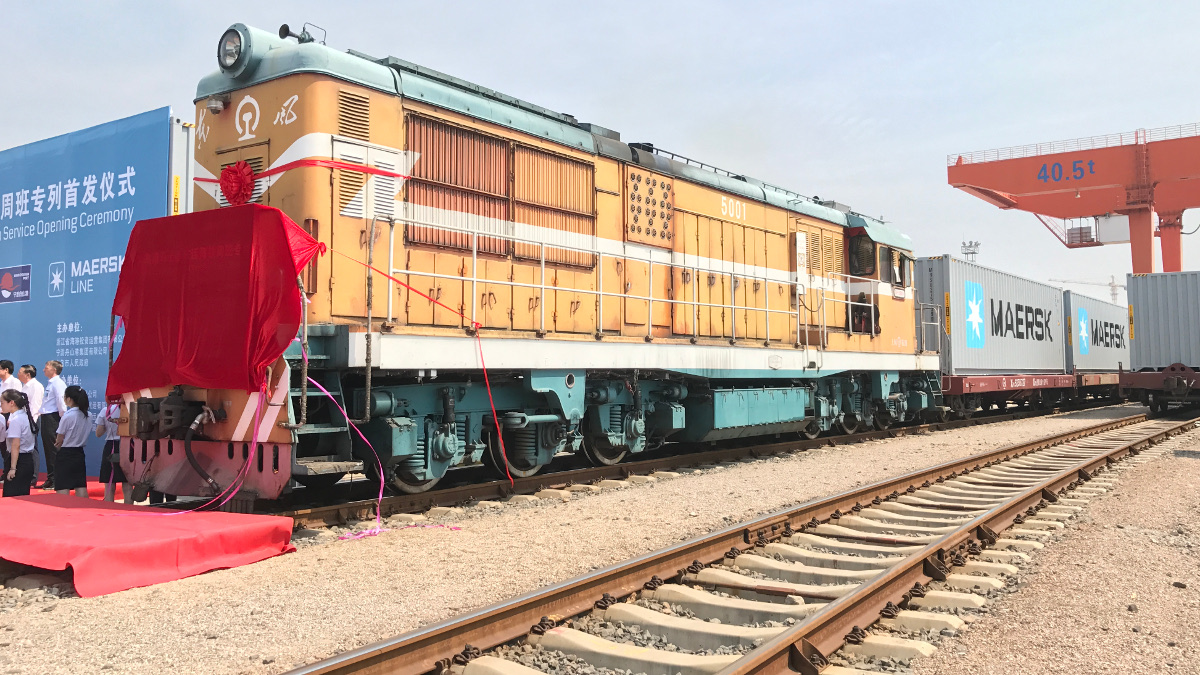 Maersk launches freight train service to Port of Ningbo