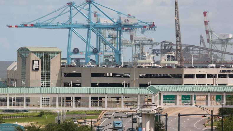 Port of Mobile in Alabama state, USA