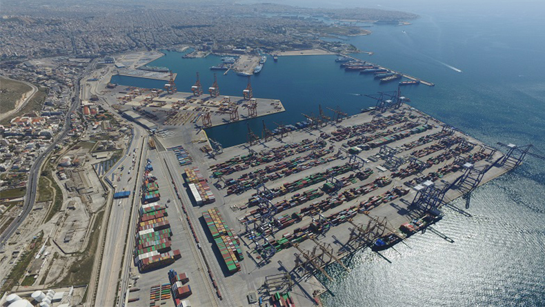 Piraeus container port