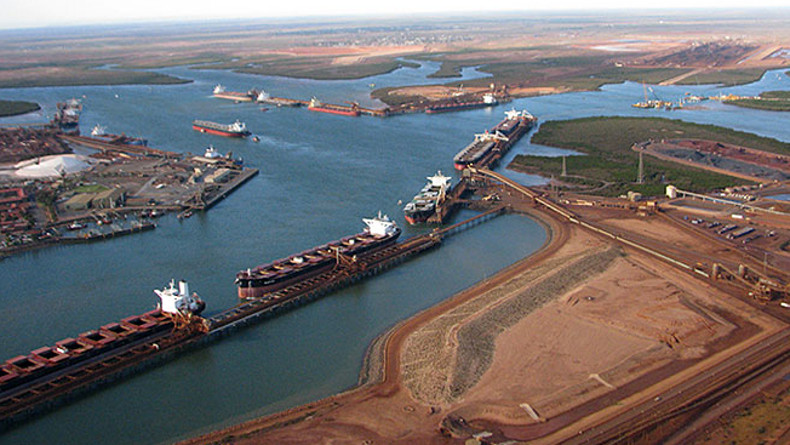 Port Hedland with bulk carriers