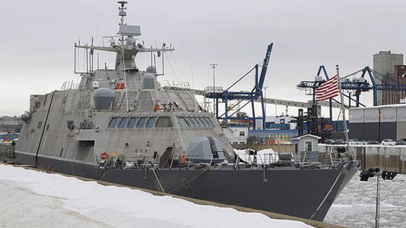 USS Little Rock tied up at Montreal