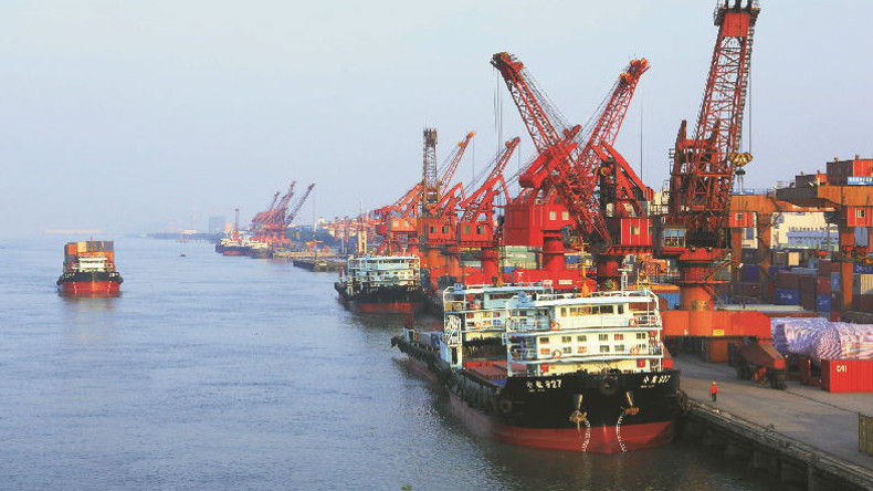 Zhongshan port operated by the Zhoushan Port Group