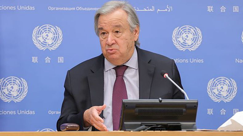 UN secretary-general Antonio Guterres. Credit EuropaNewswire/Gado/Getty Images